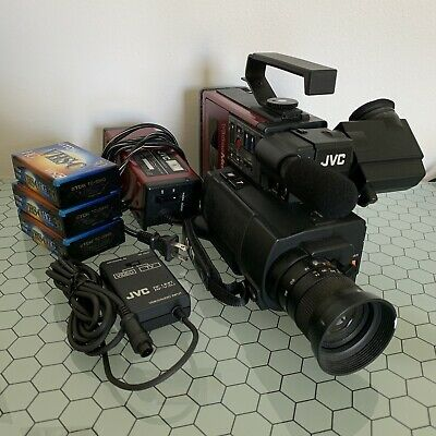JVC GR-C1U Vintage VHS-C Camera (Tested & Works) As Seen In Back To The Future