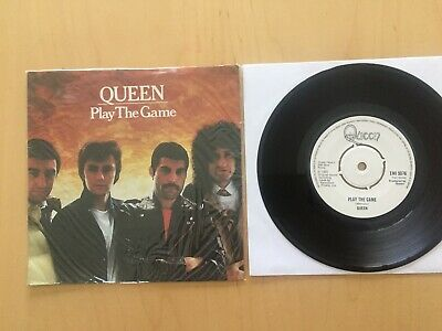 """Queen """"play The Game / A Human Body"""" White Label Promo Uk Import In Shrink Nm 7"""""""