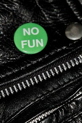 No Fun - Handmade Button Badge - Iggy Pop - The Stooges - Lust For Life - Punk