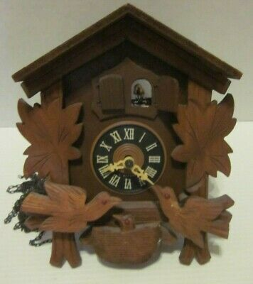 Regula Cuckoo Clock For Parts Not Working Birds Wood West Germany Vintage