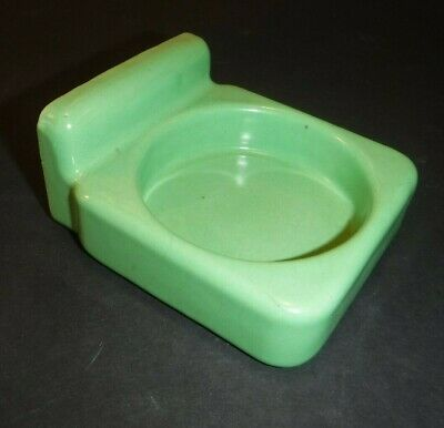 Vintage~Jadeite Green~Porcelain Bathroom Fixture~Wall Mount~Cup Holder
