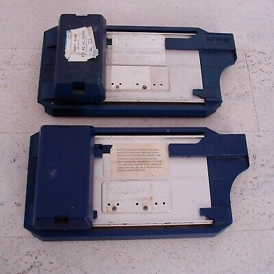 Credit / Debit card manual imprinter Bartizan pair + sales dockets