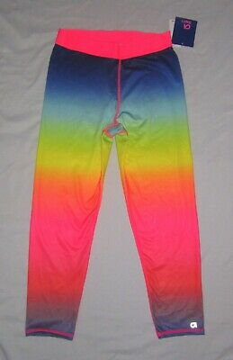 NWT Girls GAP GapFit Rainbow Sport Capri Leggings - size L (10-11)