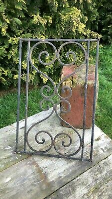 A Fantastic Vintage Cast Iron Hand Made Window Guard Great Detail *