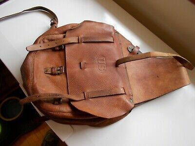 Vintage Us Calvary Leather Saddle Bags Marked Sears G.w.m.