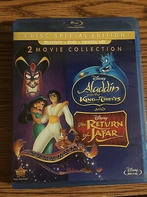 Aladdin King of Thieves Return Jafar 2/3 Blu-ray & DVD