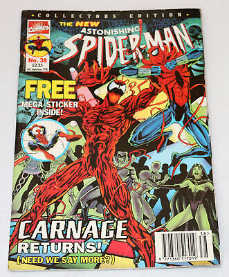 The New Astonishing Spider-Man Collector Edition Comic No.38 16th September 1998