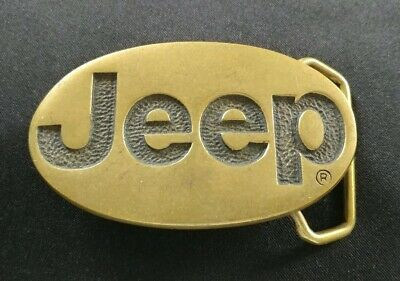 Jeep Logo Car Truck Brand Solid Brass Bts Vintage 1978 Belt Buckle Made In Usa