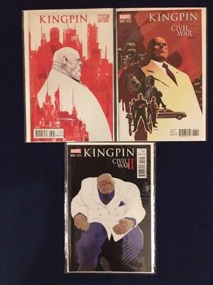 Kingpin # 2, 3 and 4 Variant Covers Marvel Comics 2016 NM