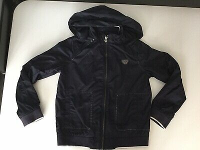 Armani Junior Boys Navy Blue Light Weight Jacket Coat Age 10 Years Immaculate