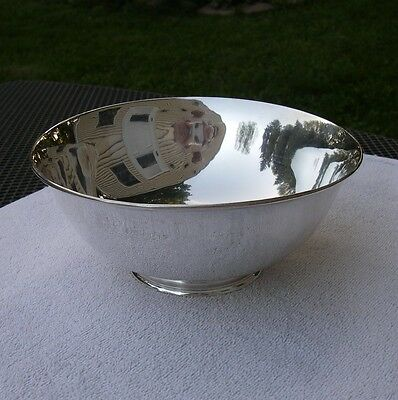 Fine ARTHUR STONE Arts & Crafts Sterling 7 1/4 Inch ROUND FOOTED BOWL-No Mono