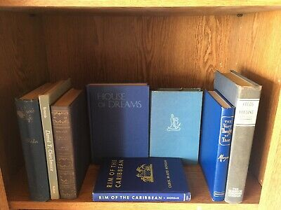 Lot 5 of BLUE / Shades of Blue - Old Vintage Antique Rare - Hardcover - Random