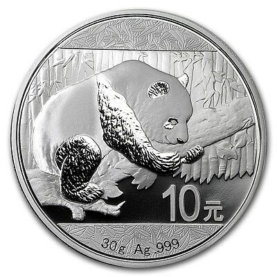 2016 China 30 Grams Oz .999 Fine Silver Panda 10 Yuen Coin/round In Mint Capsule
