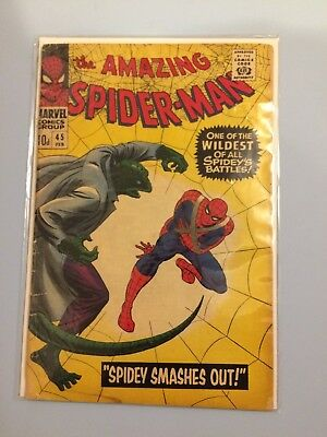 The Amazing Spider-man # 45 Marvel Comics 1967 GD Silver Age The Lizard
