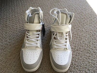 9ac81357 ZARA MAN WHITE High Top Shoes Sneakers w/ Bronze Size US 9 / EU 42 New with  Tags