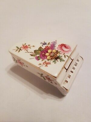Hammersley Mini China Piano - Dolls House Furniture - Floral Flowers Roses