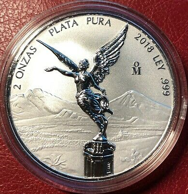 2018 2 oz Silver Libertad Reverse Proof Treasure Coin Of Mexico™