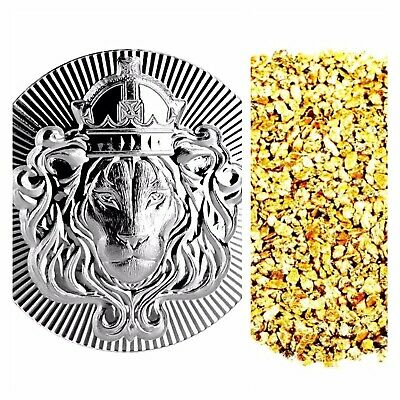 2 Troy Oz .999 Silver Scottsdale Stacker + 50 Piece Alaskan Pure Gold Nuggets