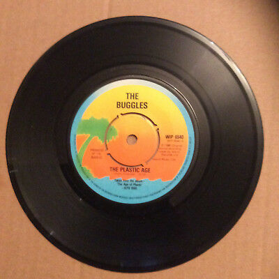 "The Buggles - The Plastic Age / Island 1980 WIP 6540 7"" Single 45 RPM Record"