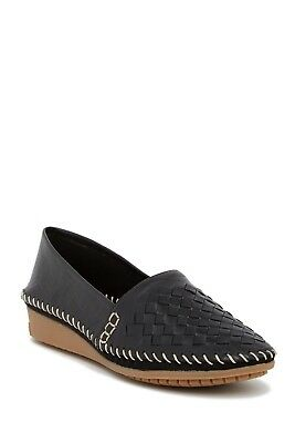 New Adam Tucker/Me Too LONI Woven Leather WEDGE FLAT Comfort Loafer Women 10 NIB