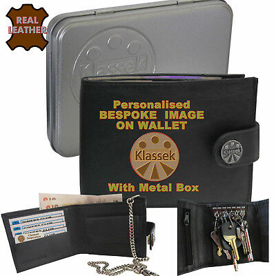 Bespoke Personalised Your Logo Photo Klassek Mens Leather Wallet Prices Vary?