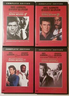 Lethal Weapon 1-4  8 DVD's Complete Edition Director's Cut  + Kinoversion