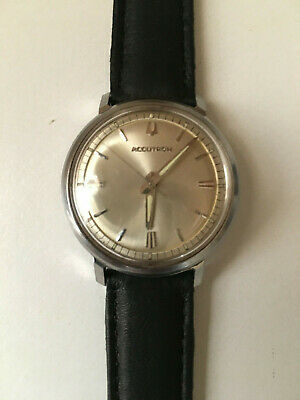 daaedaad2 VINTAGE BULOVA M7 Accutron 214 Men's Stainless Steel Watch Running ...