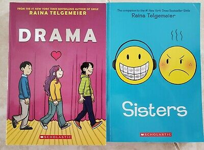 DRAMA & SISTERS ~ RAINA TELGEMEIER collection Paperback Graphic Graphix Books