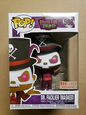 Funko Pop Dr Facilier Masked Princess Frog Disney Box lunch Exclusive New