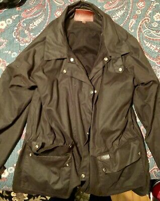 3bd49303c OUTBACK TRADING FULL Length XL Brown 2042 LOWRIDER OILSKIN DUSTER ...