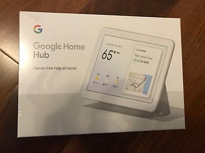 Google GA00516-US Home Hub with Google Assistant - Chalk- Brand New Sealed
