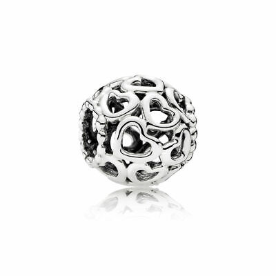 New Authentic Pandora Charms Sterling Silver Open Your Heart Bracelet Bead Charm