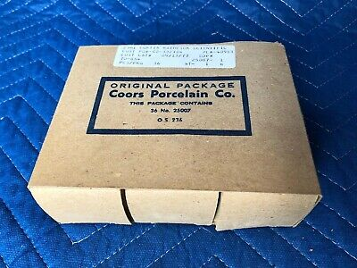 Vintage White COORS U.S.A. Porcelain LABORATORY Crucibles 36ct. Original box