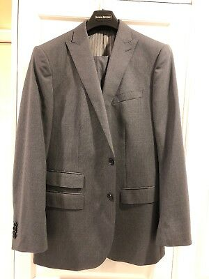 Banana Republic Gray Pinstripe Suit, 40R, 33x25