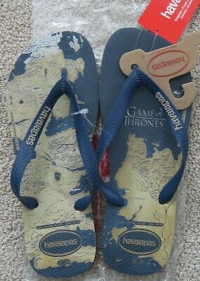 7123cf7185d8 Game Of Thrones Hbo Promo Havaianas Top Flip Flops Sandals Sand Grey Nwt  Unisex