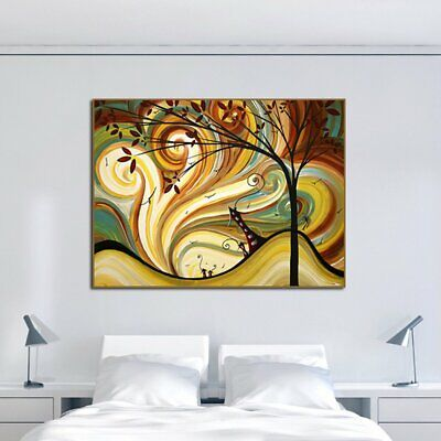 Colourful Retro The World Of Dreams Canva Painting No Frame Wall Display E1