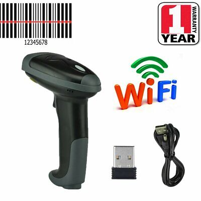 Portable Wireless Barcode Scanner Laser Wifi Reader Handheld Scan USB for POS