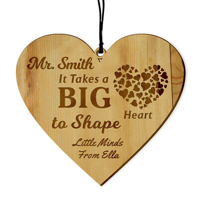 Personalised Engraved Teacher Gift Wooden Plaque End of Term Hanging Keepsake