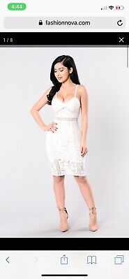 c54c544d3e9 FASHION NOVA LACE Dress White Size SmallNWT -  11.99