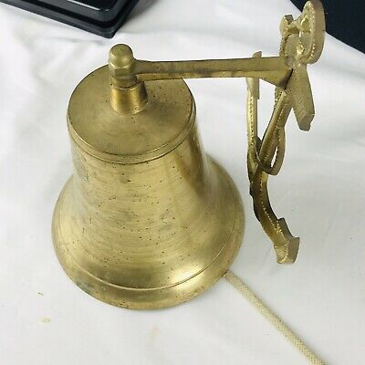 Vintage brass bell anchor home door bell decor Nautical