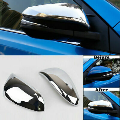 1 Pair Rearview Side Wing Mirror Cover For Toyota Highlander 2015 RAV4 2013-2018