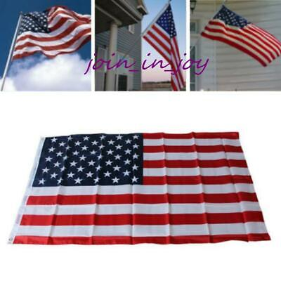 American Flag USA US Sewn Stripes Embroidered Stars Brass Grommets Y3