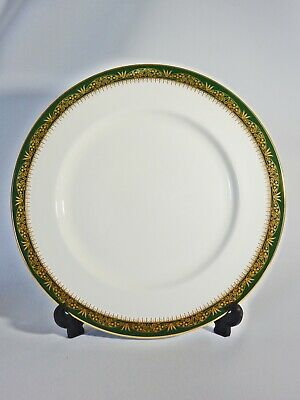 John Aynsley Bone China Chester Large Dinner Plate Green Gold Second Quality