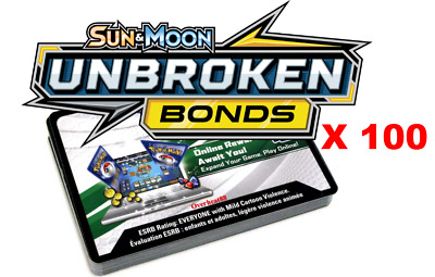 100x Sun And Moon Unbroken Bonds Pokemon TCGO PTCGO TCG Online Codes Sent Fast