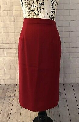 9e1267cdd2 NWT TALBOTS RED Straight Pencil Skirt Size 12 100% Wool - $29.99 ...