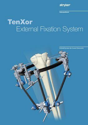 Stryker TenXor Fixation System Ring w/ 5 Clamps & Rods # 4936-2-040 & 4936-2-010