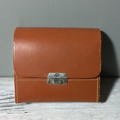 Vintage RUMPP England Tan Leather Small Case