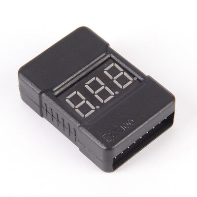 BX100 1-8S Lipo Li-ion Battery Voltage Tester Monitor Low-Voltage Buzzer Alarm H