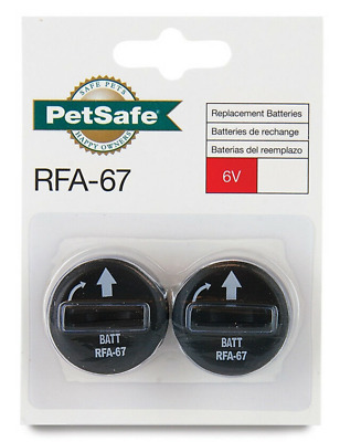 2-PACK Genuine PetSafe Compatible for RFA-67 Replacement Batteries SAME-DAY SHIP