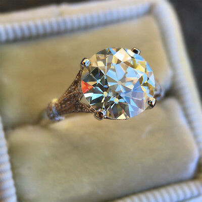 2.50ct Round Cut White Diamond Vintage Engagement Ring Wedding Jewelry Gifts Hot